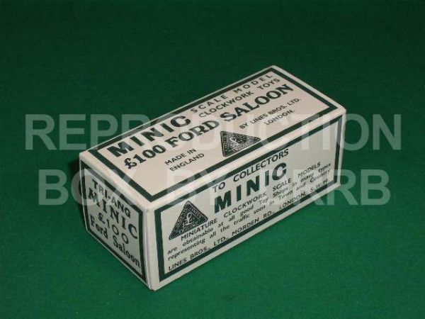 Minic # 1M £100 Ford Saloon - Reproduction Box